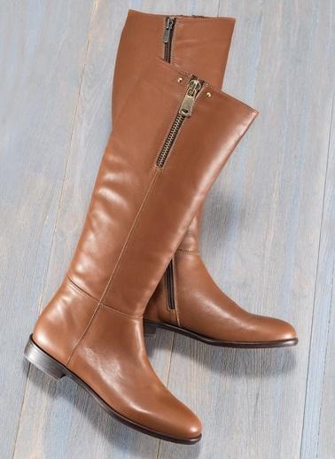 Hakiki Deri Çizme-Elle